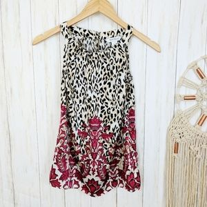 WHBM Mixed Print Tank Top